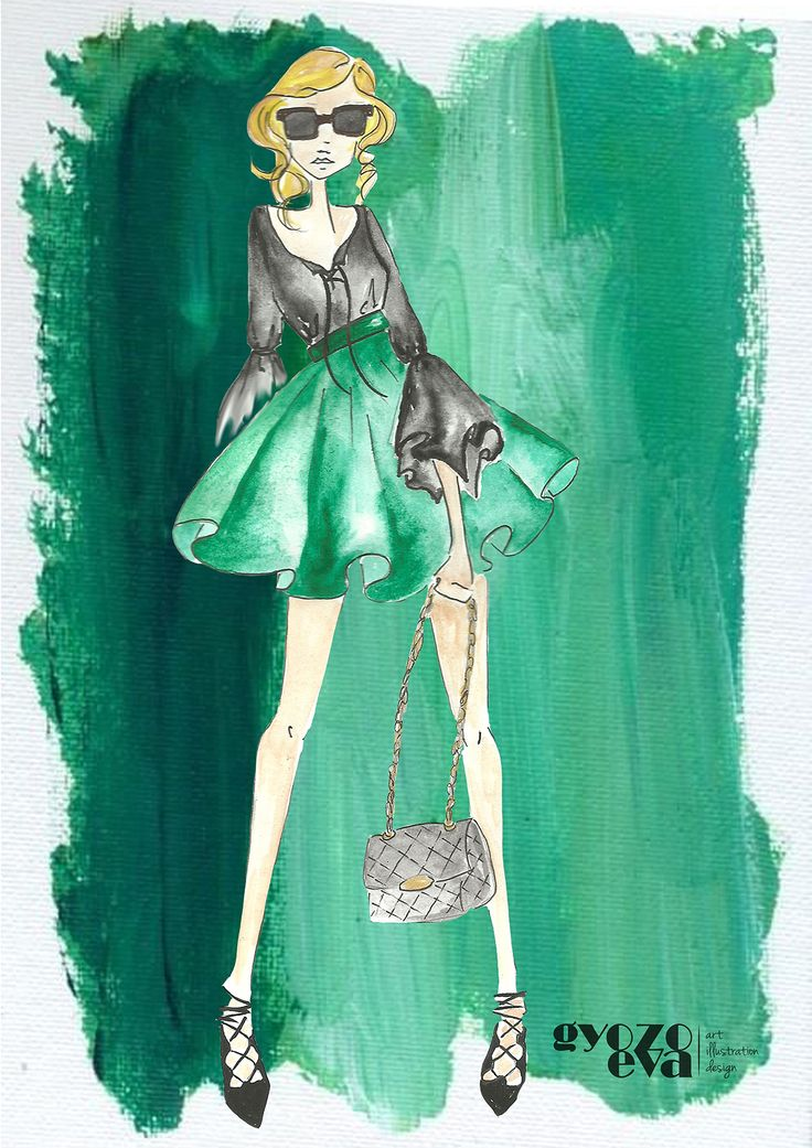 green dream fashon illustration