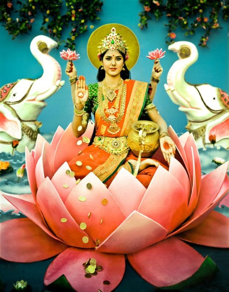 LAKSHMI: Hindu goddess of light, prosperity, friendship, and generosity.