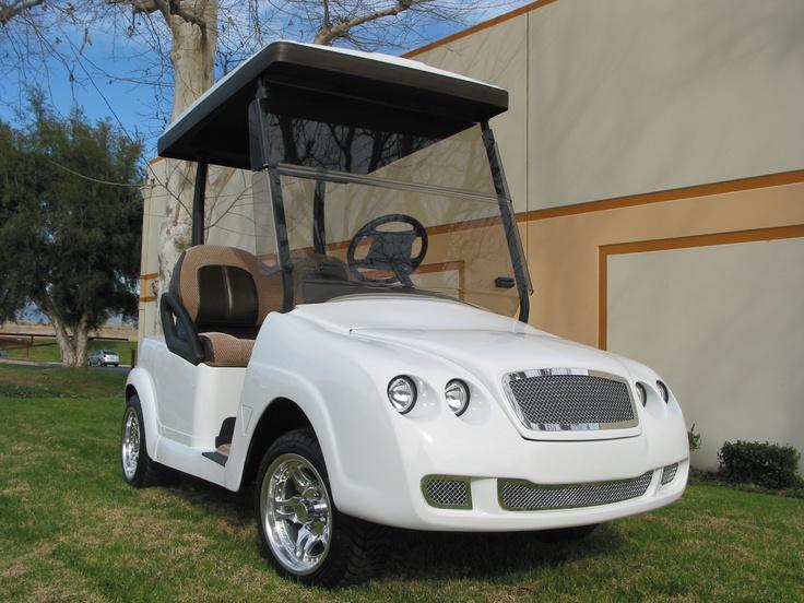 Bentley front body kit on an E_Z_GO RXV golf car