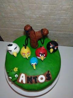Handmade czyli wytchnienie po mojemu: Tort Angry Birds