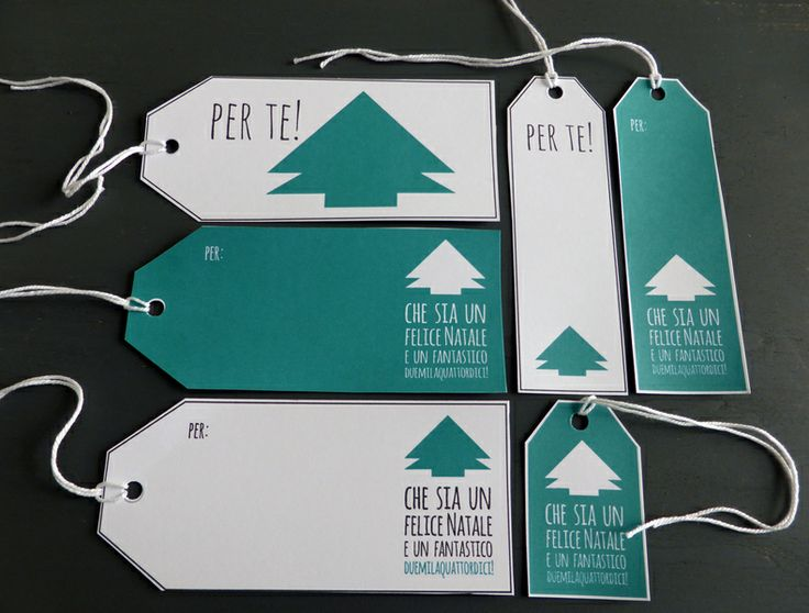Etichette natalizie // Christmas tags by Manufatto a Roma via it.dawanda.com