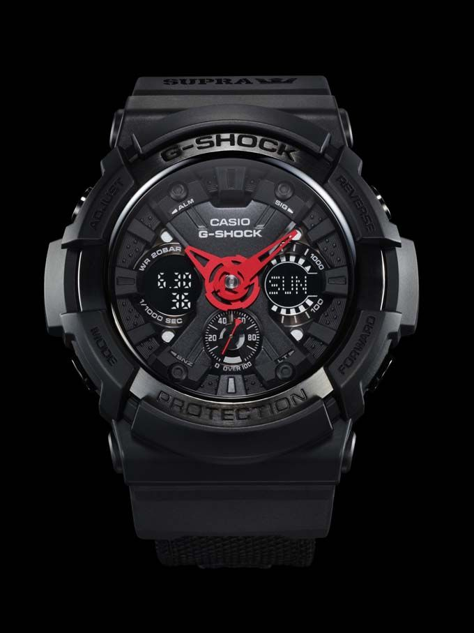 """The SUPRA G-Shock """"It's About Time"""" watch and Vaider Lite go on sale Saturday, May 11."""