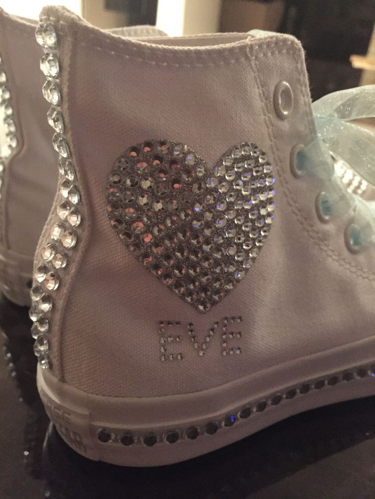 Custom Bling Converse Sneakers For Your Special Day Bat