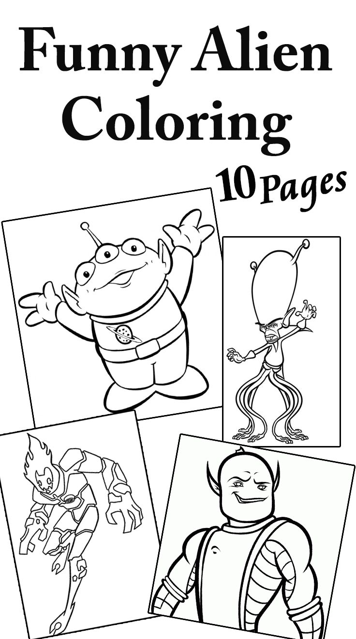 Top 10 Free Printable Funny Alien Coloring Pages Online ...