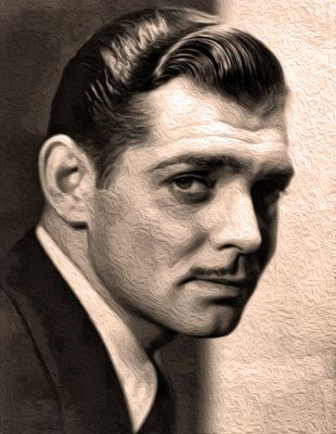 Portrait of Clark Gable - Roberto Cortes