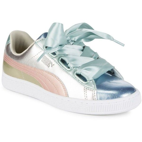 d588b5ccf699 Puma Women s Basket Heart Leather Sneakers ( 100) ❤ liked on Polyvore  featuring shoes