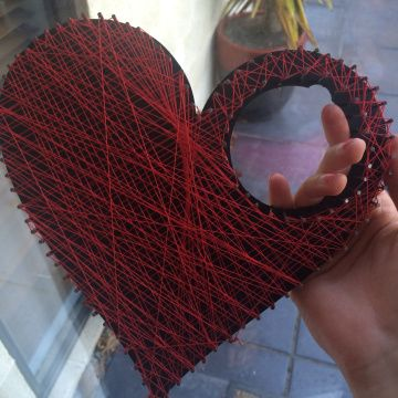 String Heart. Visit learntobeadiydiva.wordpress.com to find out how to make one of these!