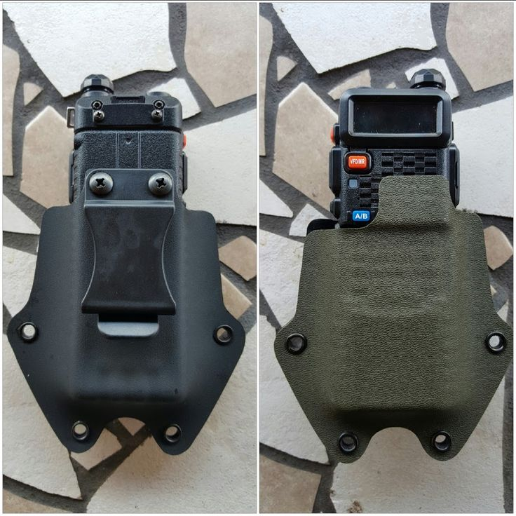 My Diy Kydex Holster For Baofeng With Extended Battery