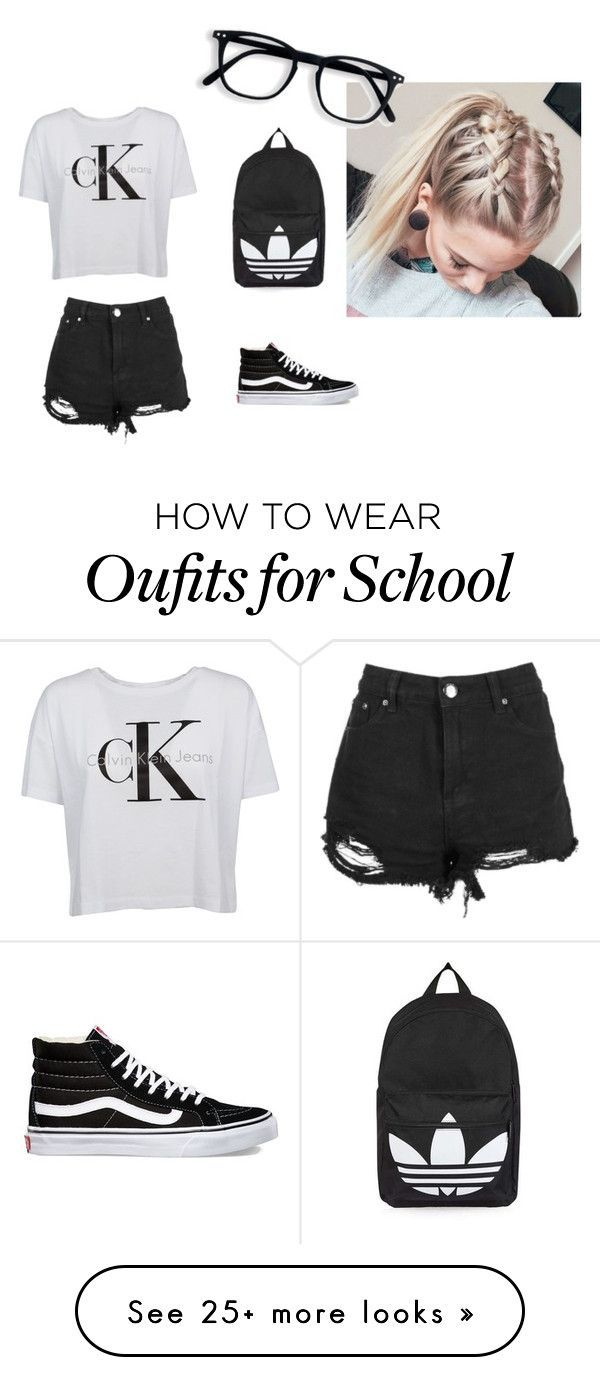"""""""school"""" by sillydilly-1 on Polyvore featuring Calvin Klein, Boohoo, Vans and Topshop"""