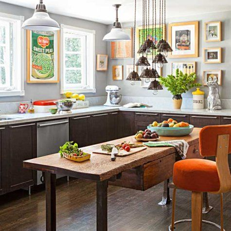 Prioritize filling the rooms where you spend the most time first (like the kitchen) and tackle other when your budget allows.