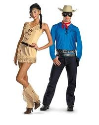 The Lone Ranger and Tonto Couples Halloween Costumes