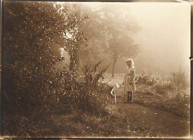 Leonard Misonne – Girl and Her Goat, 1920s