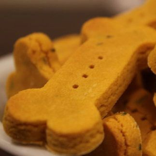 Wheat-Free Pumpkin Dog Biscuits - www.petsugar.com