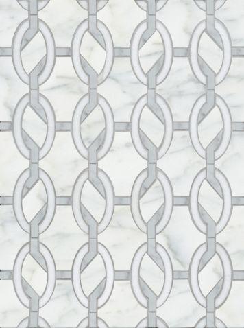 Carrara Thassos Cube Marble Mosaic