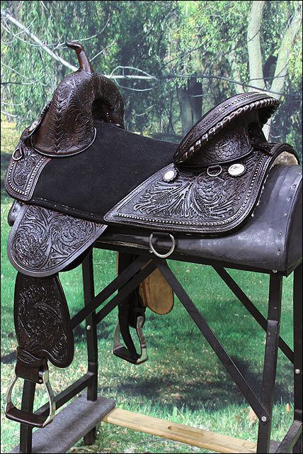 TW101DB-A HILASON BROWN TREELESS WESTERN TRAIL BARREL RACING HORSE SADDLE 15""