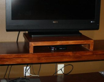 wood tv stand television riser flat screen tv by
