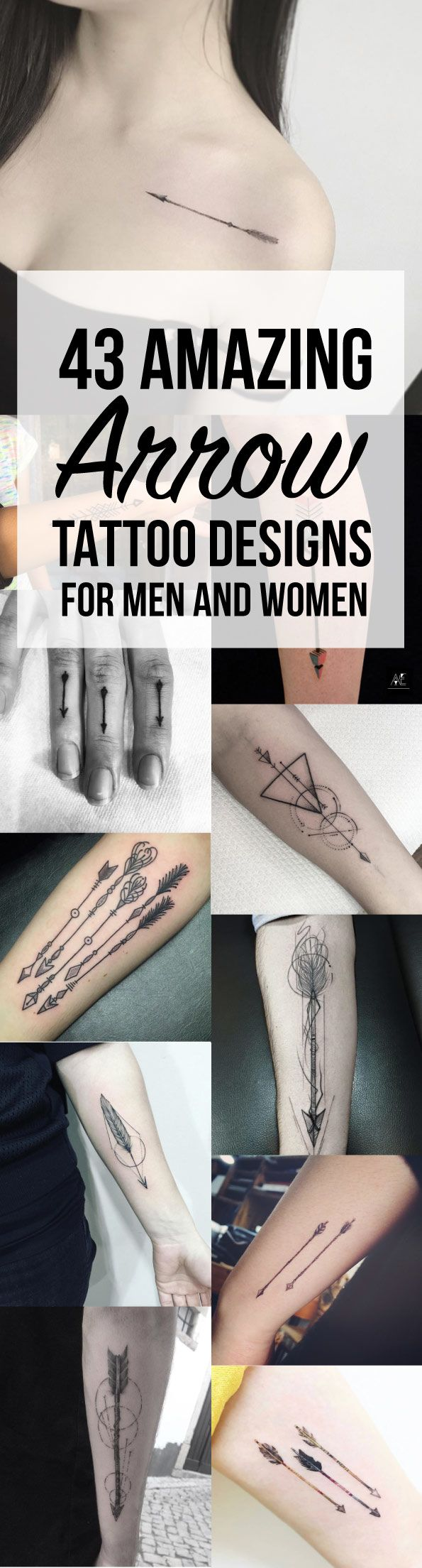 43 Amazing Arrow Tattoo Designs for Men and Women