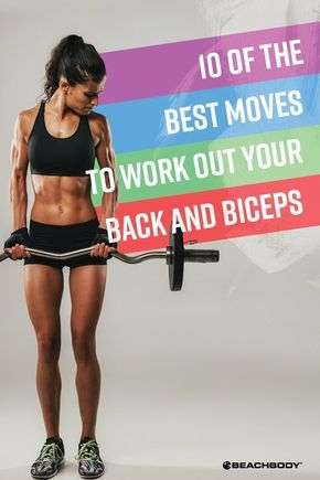 Strong back and biceps can be a huge help in your daily life. Here are 10 of the best moves to add to your next back and biceps workout. fitness tips // at home workouts // upper body workouts // health and fitness // beachbody // Beachbody Blog // #fitnesstips #workouts #homeworkouts #backworkouts #exercises #Beachbody