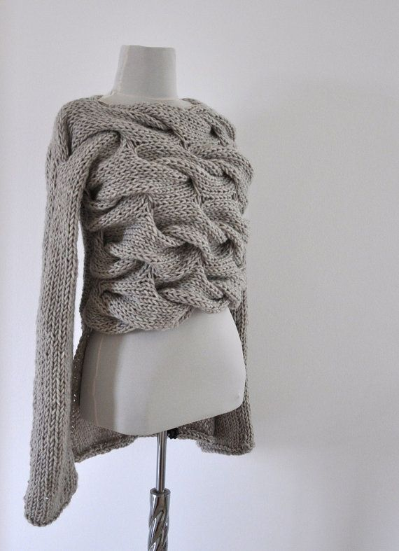 Sweater Cardigan Jacket Tunic Chunky Sweater by reflectionsbyds, $125.00