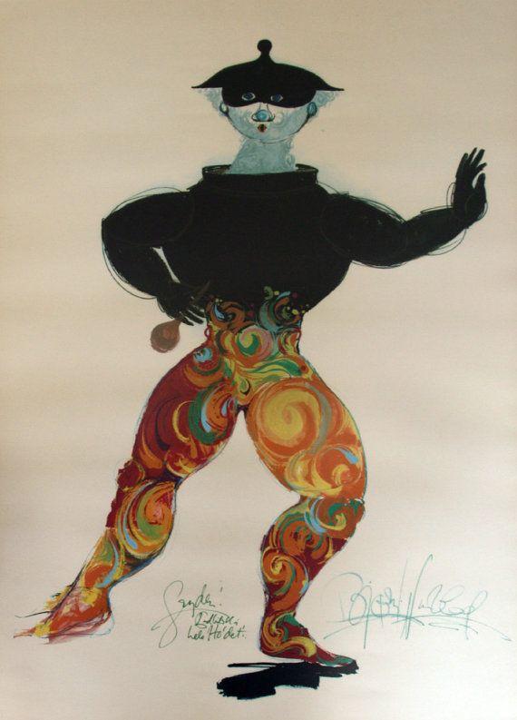 70ties Dancer II by Bjørn Wiinblad  Original by OutofCopenhagen
