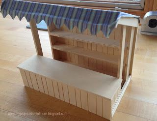 My Projects In Miniature - market stall kit