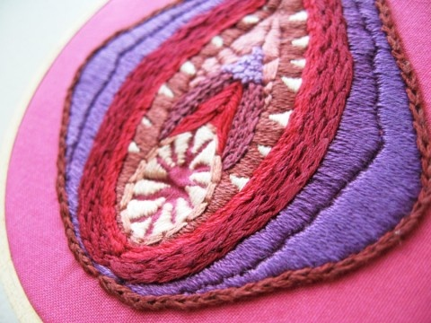 ScarletTentacle's hand embroidered Vagina Dentata