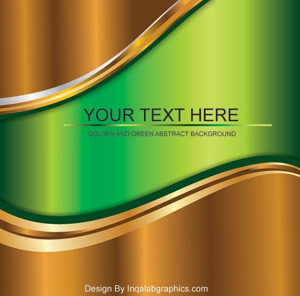 Golden Metallic Abstract Background Free Download Abstract Backgrounds Free Vector Art Green Abstract Background Wallpaper vector eps free download