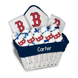 8 best mlb baby gifts images on pinterest baby gifts gifts for our personalized boston red sox large gift basket is a perfect baseball baby gift with 2 burp cloths and a bib personalized with the yankees logo negle Image collections