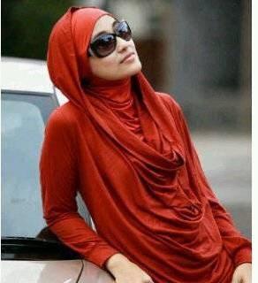 hijab with hoodie