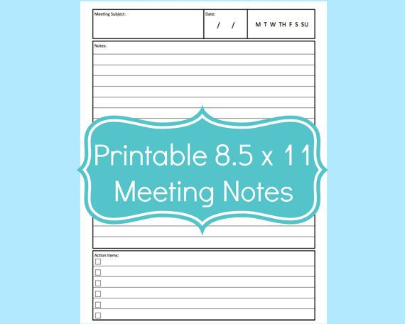 Meeting Notes Template Planner Meeting Notes by CommandCenter