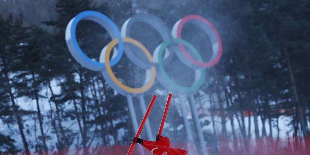 Jeux olympiques d'hiver 2018: avec ces images du vent, on comprend mieux pourquoi le géant dames a été annulé