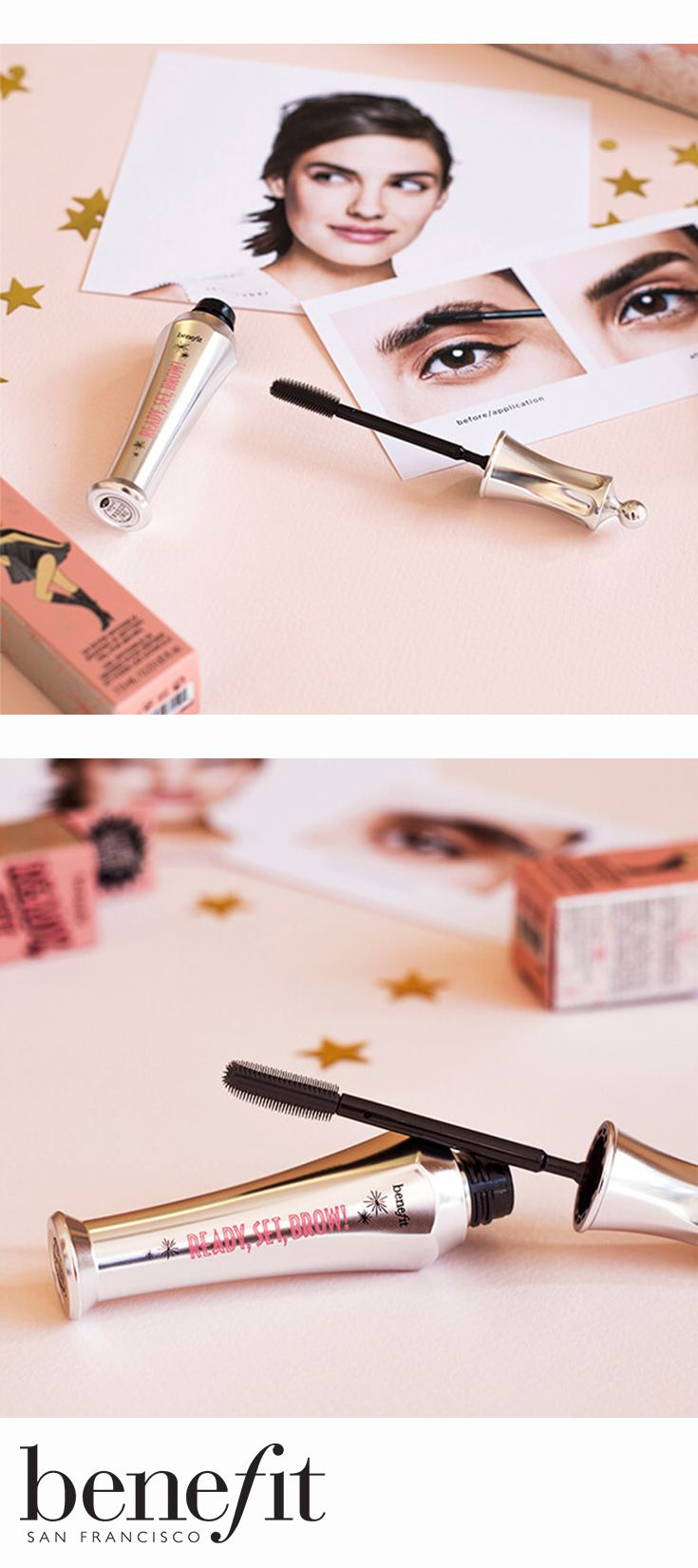Clear brow gel shapes & tames brows and locks on makeup so brows don't pull a disappearing act xx