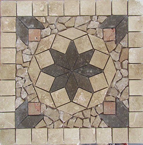 "Stone Tile Indoor or Outdoor 18 "" Floor or Wall Art Medallion Mosaic Stone Deals http://www.amazon.com/dp/B01CYRT174/ref=cm_sw_r_pi_dp_9GW5wb1T6DDFH"