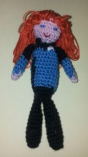 Star Trek The Next Generation: amigurumi Beverly Crusher - crochet