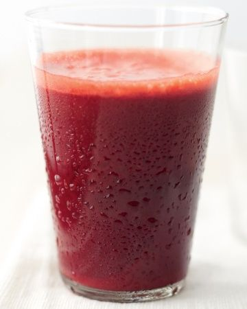 Beet, Apple, and Mint Juice