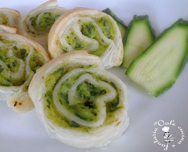 Girelle con crema alle zucchine,ricetta finger food