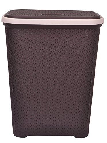 Brown Coloured Basket Comes With Lid For Protecting Your Articles From Dust Ideal Family Use In The Laundry Room Bedroom Or Bathroom