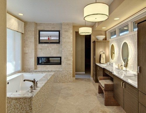 """So You Want a Bathroom Television #discount #bathroom #sinks http://bathroom.remmont.com/so-you-want-a-bathroom-television-discount-bathroom-sinks/  #tv for bathroom So You Want a Bathroom Television Click """"Collaborate"""" to invite people to view or add to this ideabook. I'll get this out of the way first: I've always had a hard time understanding the appeal of TVs in bathrooms. Unlike the kitchen, which is usually the hub of household life, or a […]"""