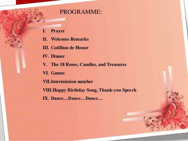 50th birthday program flow