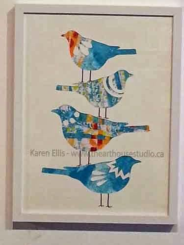 Stacked Birds - Gelli Print Collage with Brother's ScanNCut Machine