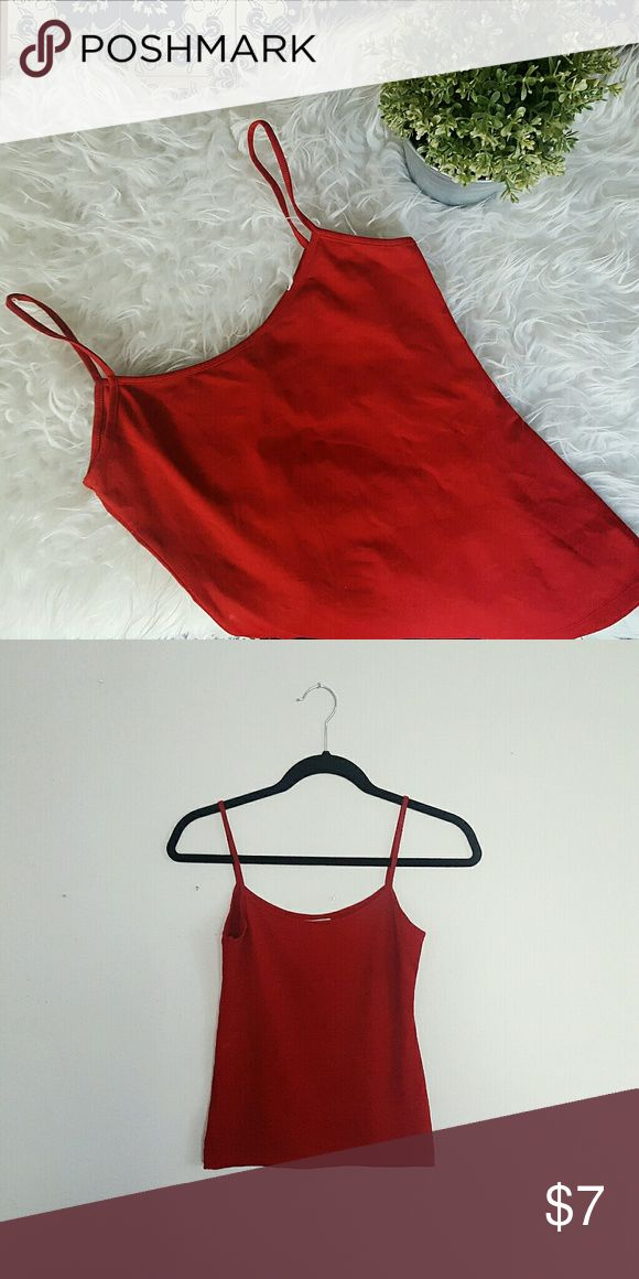 ZARA red tank top Please let me know if you have any questions or want to make an offer! 💕 Zara Tops Tank Tops