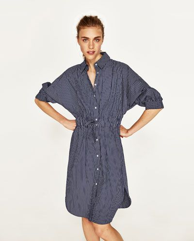 TUNIQUE TYPE CHEMISE À RAYURES-ROBES-FEMME-COLLECTION AW/17 | ZARA France