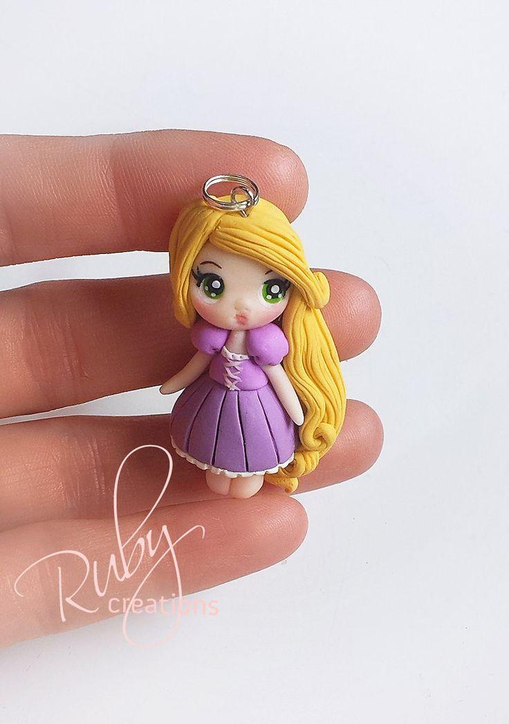 Rapunzel polymer clay pendant charm by Ruby-creations.deviantart.com on @DeviantArt