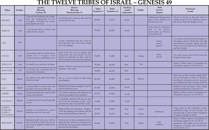 The 12 Tribes of Israel and Their Meanings | Notebook: The Twelve Tribes of Israel