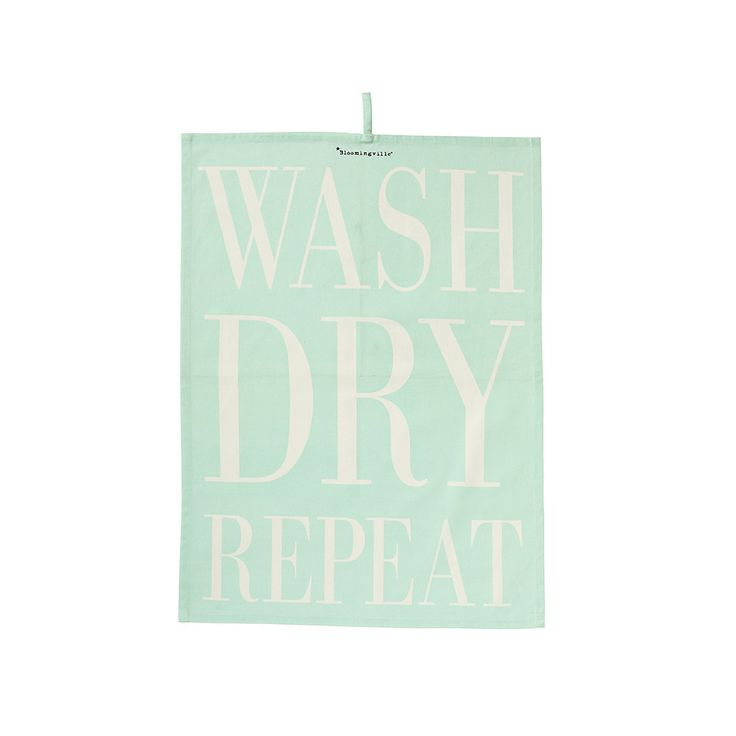 Wash/Dry/Repeat Tea Towel - Mint from Bloomingville
