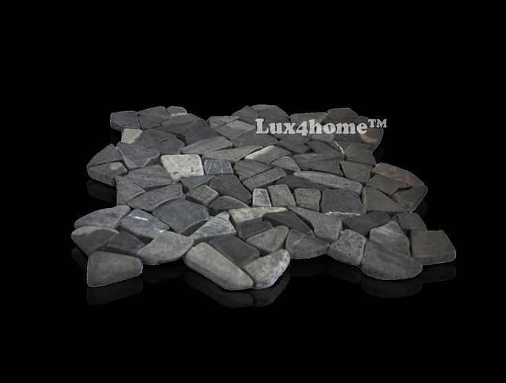 Czarna #mozaika kamienna - Mozaika marmurowa Maluku Black od #Lux4home™