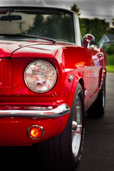 Lainey's Ride: 1965 Red Mustang ❤Wheels❤