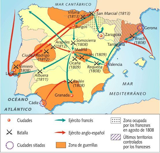 1808 a 1814 Guerra de la Independencia Española