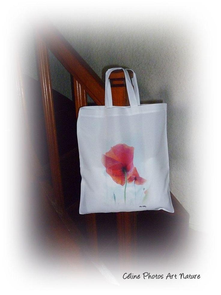 Tote bag coquelicot de Céline Photos Art Nature : Cartes par celinephotosartnature