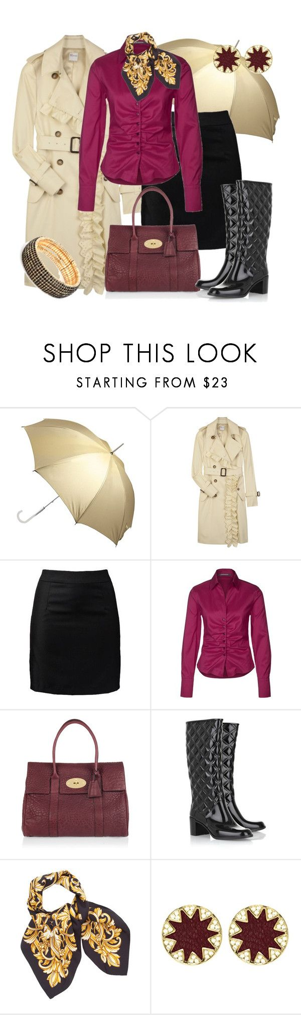 """""""DÍAS DE LLUVIA"""" by outfits-de-moda2 ❤ liked on Polyvore featuring Totes, RED Valentino, JJ Park, René Lezard, Mulberry, Marc Jacobs, Givenchy, House of Harlow 1960 and BaubleBar"""